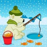 Polare riguardi la pesca Immagine Stock Libera da Diritti