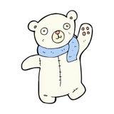polarer Teddybär der netten komischen Karikatur Stockfotos