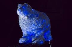 Polares Bear Abstraktes Hintergrundmuster der weißen Sterne auf dunkelroter Auslegung Lizenzfreies Stockbild