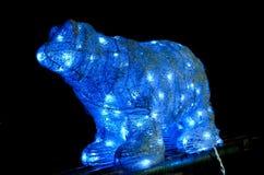 Polares Bear Abstraktes Hintergrundmuster der weißen Sterne auf dunkelroter Auslegung Stockfoto