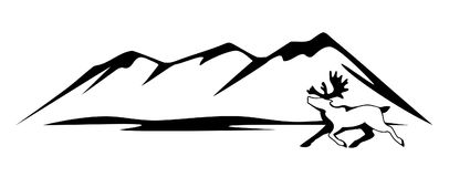 Polares Rotwild ist ein Symbol der Arktis Lizenzfreie Stockfotos
