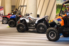 Polaris ATV on display. BANGKOK - JANUARY 31 : Polaris ATV on display at the Bangkok Bike Show 2013 on January 30, 2013 in Bangkok, Thailand Royalty Free Stock Images