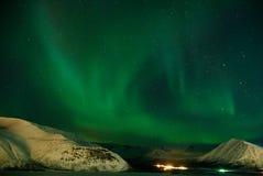 Polaris dell'aurora Fotografia Stock Libera da Diritti
