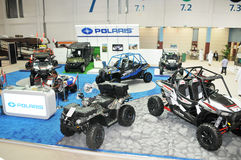 Polaris Desert Vehicles at Abu Dhabi International Hunting and Equestrian Exhibition (ADIHEX) Royalty Free Stock Photography