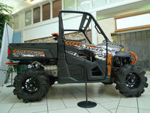 Polaris Ranger 900 XP on display in mall Stock Image