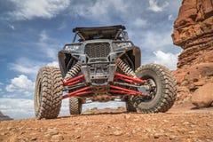 Polaris RZR ATV sulla traccia dell'angolo 4WD del pollo vicino a Moab Immagini Stock Libere da Diritti