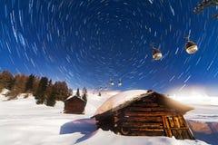 Polaris star trail Stock Photo