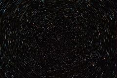Polaris, startrails royalty free stock images