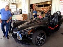 POLARIS THREE WHEEL MOTORBIKE OR AUTO Stock Photo