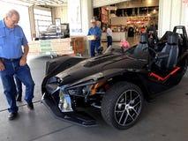 POLARIS THREE WHEEL MOTORBIKE OR AUTO Stock Photos