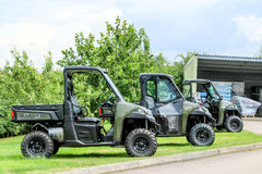 Polaris utility vehicle. Three army green Polaris ADC ranger utility vehicles Stock Photography