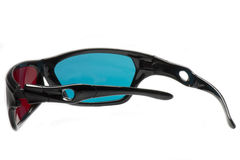Polarisierte Gläser, zum des 3D anzusehen stockbild
