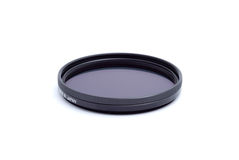 Polarising optical filter on white Stock Images