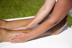 Polarity massage Stock Images