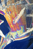 Polarized Ice Crystals. Ice Crystals photographed in polarized light Royalty Free Stock Photos