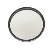 Polarizing filter. Polarizing lens filter isolated on white background Royalty Free Stock Image