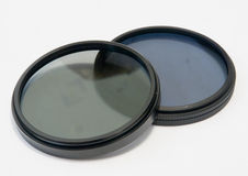 Polarizing and neutrally gray filters Royalty Free Stock Photo