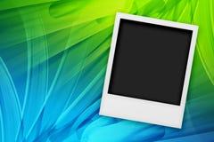 Polaroïd blanc Photographie stock libre de droits