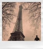 polaroïd d'Eiffel illustration stock