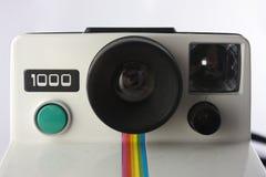 polaroïd proche d'appareil-photo vers le haut Photographie stock libre de droits