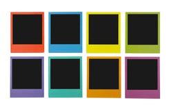 Polaroïds de couleur image libre de droits