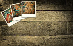 Polaroidów obrazki przedstawia połowu przemysłu Zdjęcie Stock