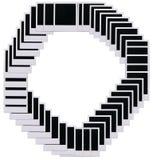 polaroid αριθμού ταινιών 0 κενών Στοκ εικόνα με δικαίωμα ελεύθερης χρήσης