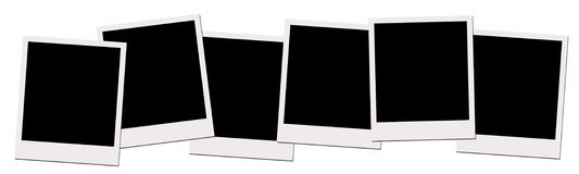 polaroid μονοπατιών ταινιών ψαλιδίσματος Στοκ φωτογραφία με δικαίωμα ελεύθερης χρήσης