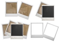 Polaroid πλαισίων φωτογραφιών που απομονώνεται στο λευκό Στοκ Φωτογραφίες