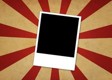 Polaroid στην ανασκόπηση Starburst ελεύθερη απεικόνιση δικαιώματος
