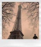 polaroid του Άιφελ Στοκ φωτογραφία με δικαίωμα ελεύθερης χρήσης