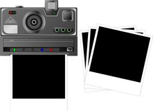 Polaroid. And  cards. vector illustration Royalty Free Stock Photography