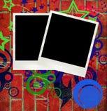 Polaroid background Stock Images