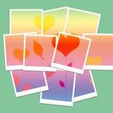 Polaroid- beelden Stock Foto's