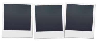 Polaroid in bianco Immagine Stock