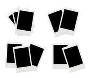 Polaroid blank photo frame. Collection of isolated old polaroids Stock Photos