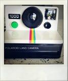 Polaroid camera. Closeup of old Polaroid 1000 land camera Royalty Free Stock Image