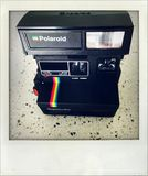 Polaroid camera. Royalty Free Stock Photography