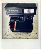 Polaroid camera. Closeup of old Polaroid 635CL camera Royalty Free Stock Photography