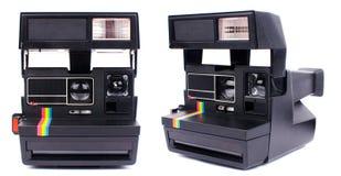Polaroid camera. Old instant polaroid camera, isolated on white stock photos