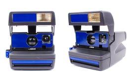 Polaroid camera. Old instant polaroid camera, isolated on white Royalty Free Stock Photos
