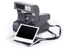 Polaroid camera and photo frame Royalty Free Stock Photos