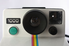 Polaroid camera up close royalty free stock photography