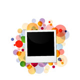 Polaroid on a colorful background. For web stock illustration