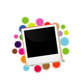 Polaroid on a colorful circles. Design element for web royalty free illustration