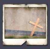 Polaroid com cruz santamente ilustração royalty free