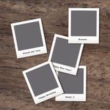 Polaroid con cinco imágenes Imágenes de archivo libres de regalías