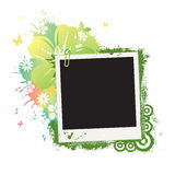 Polaroid de la flor stock de ilustración