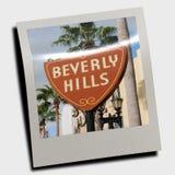 Polaroid de la muestra de Beverly Hills ilustración del vector