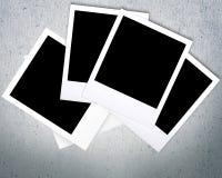 Polaroid. Design layout film poloroid films ad royalty free stock photos